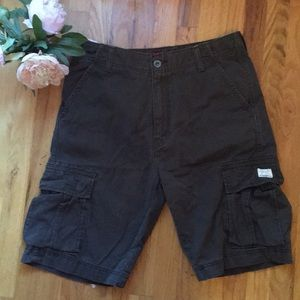 Vintage Dark Brown Levi Cargo Shorts